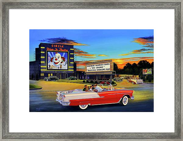 Goin' Steady - The Circle Drive-in Theatre Framed Print