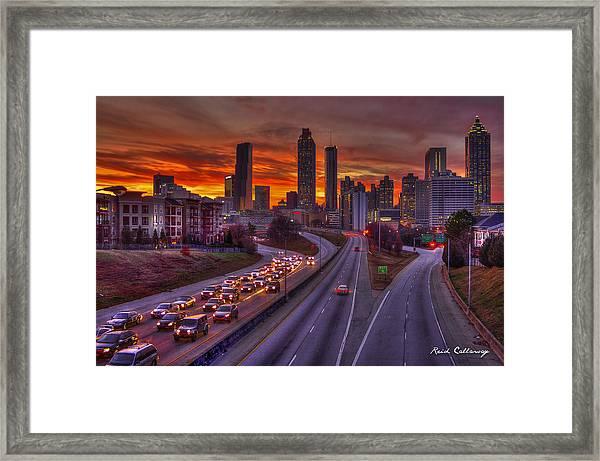 Going Nowhere Fast 2 Atlanta Sunset Framed Print