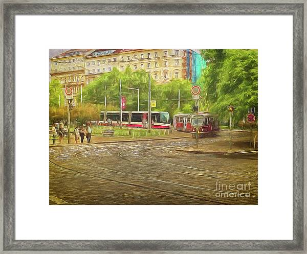 Going Slowly Round The Bend Framed Print
