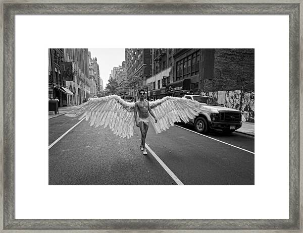 Going To The Parade Framed Print