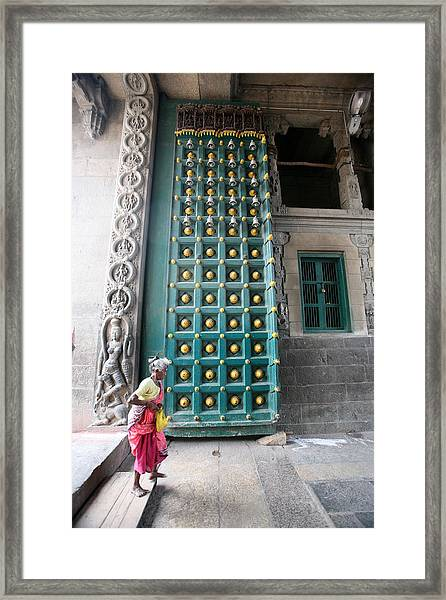 Going To The Temple Framed Print