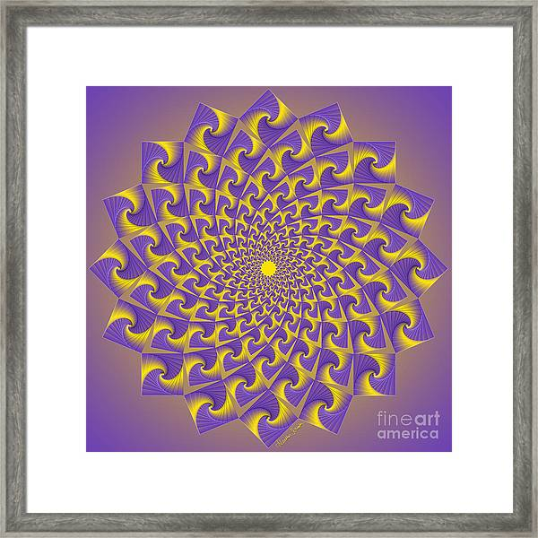 Gold And Purple Circle Of Diamonds Framed Print