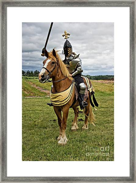 Gold And Silver Knight Framed Print