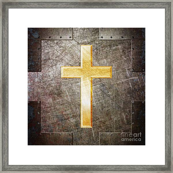 Gold And Silver Framed Print