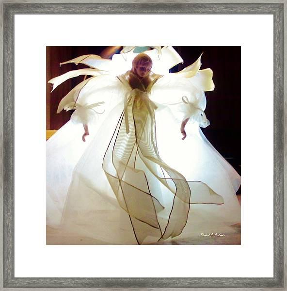 Gold And White Angel Framed Print
