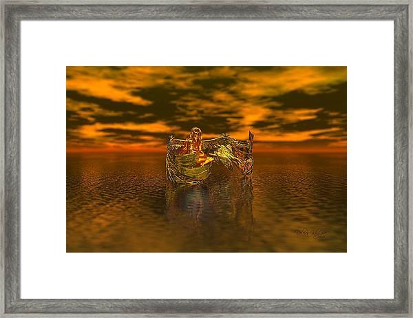 Gold Angel Framed Print