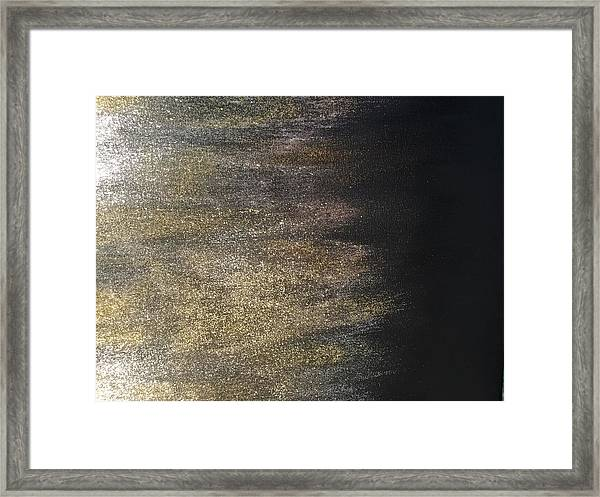 Gold Dusty Night Framed Print