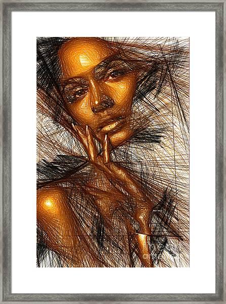 Gold Fingers Framed Print