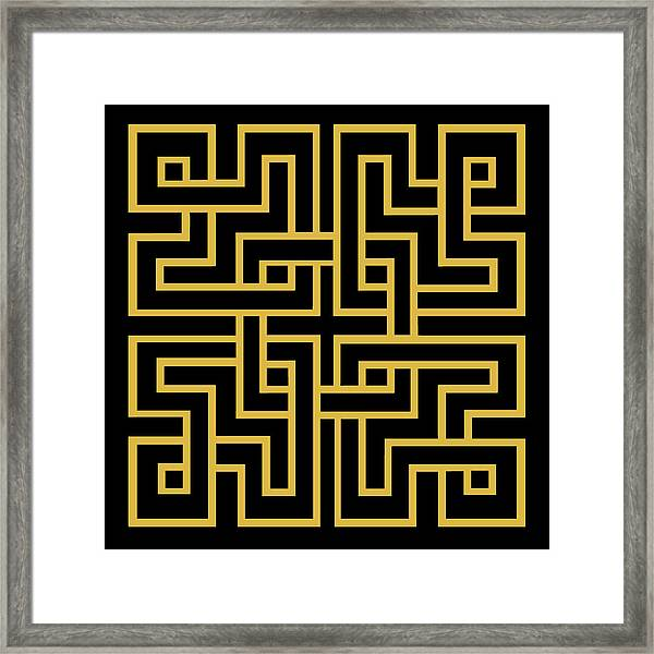 Gold Geo 6 Framed Print