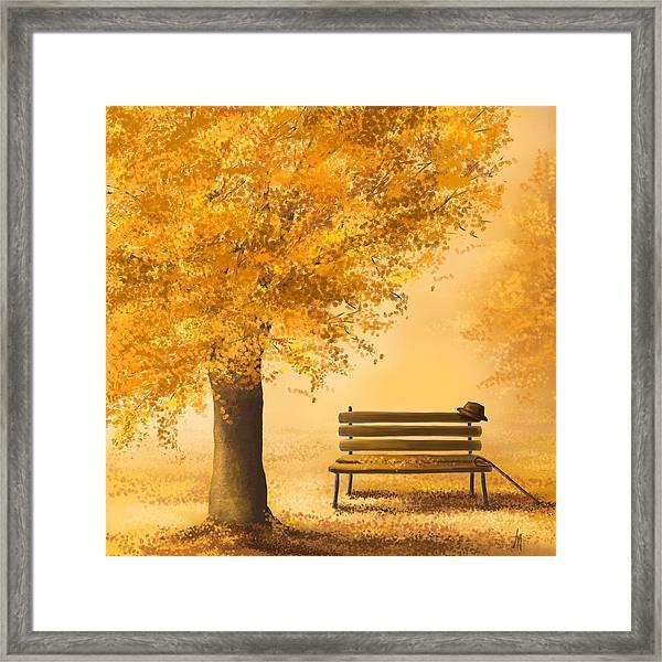 Gold Memories Framed Print