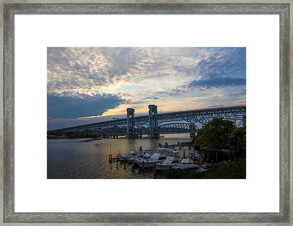 Gold Star Sunset Framed Print