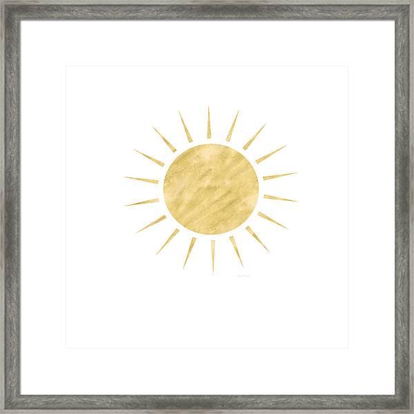 Gold Sun- Art By Linda Woods Framed Print