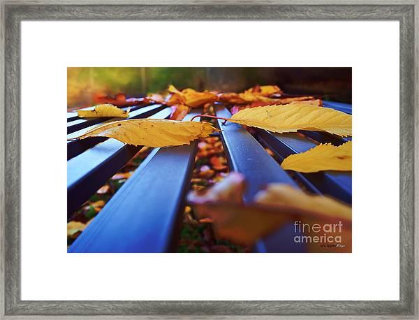 Gold Topped Table Framed Print