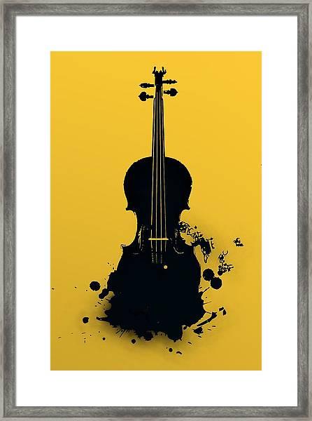 Gold Violin Framed Print