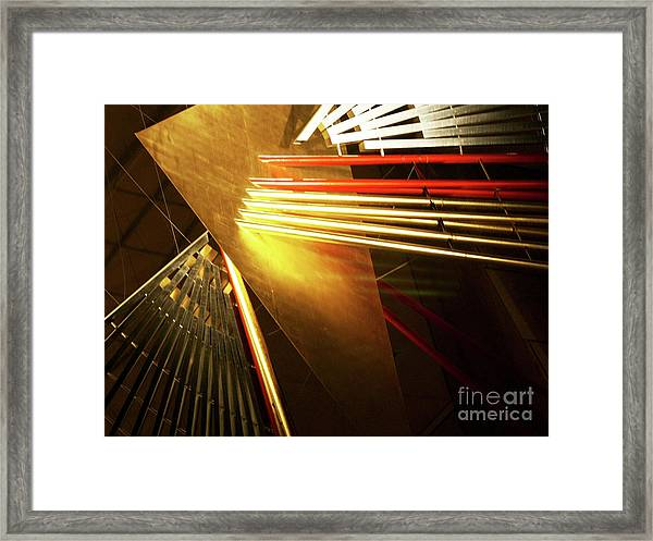 Golden Abstract Framed Print