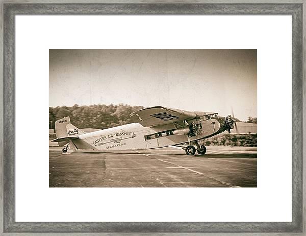 Golden Age Trimotor Framed Print