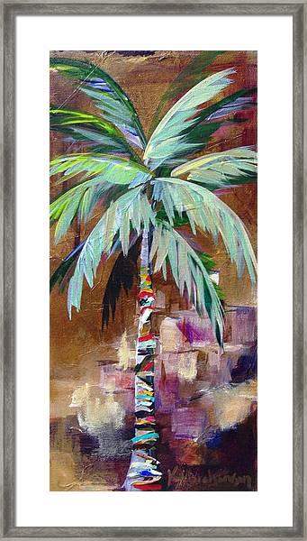 Golden Amethyst Palm Framed Print