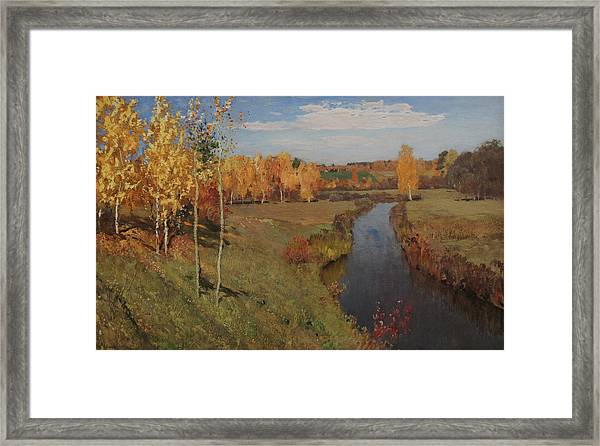 Golden Autumn Framed Print by Isaac Levitan