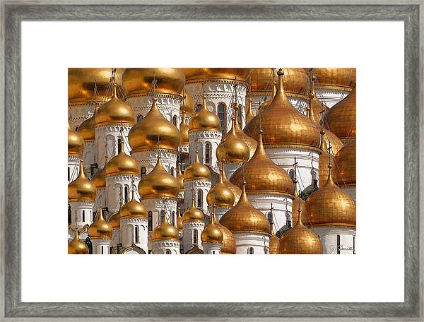 Golden Domes Framed Print