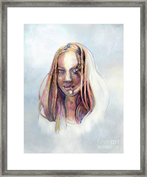 Golden Eyes Framed Print