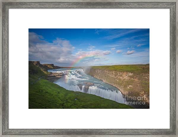 Golden Falls, Gullfoss Iceland Framed Print
