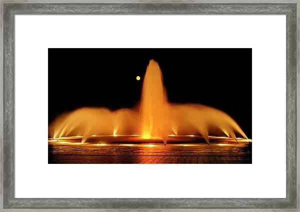 Golden Fountain Framed Print