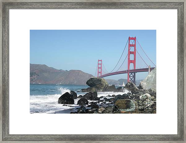 Golden Gate Beach Framed Print