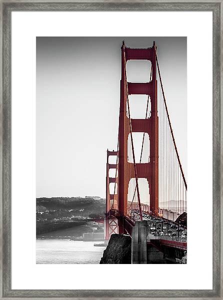 Golden Gate Black And Red Framed Print