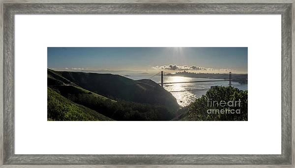 Golden Gate Bridge From The Road Up The Mountain Framed Print