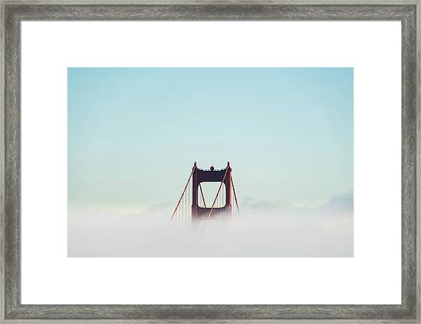 Framed Print featuring the photograph Golden Gate Bridge by Joshua Sortino