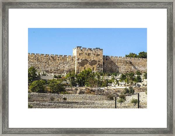 Golden Gate Jerusalem Israel Framed Print
