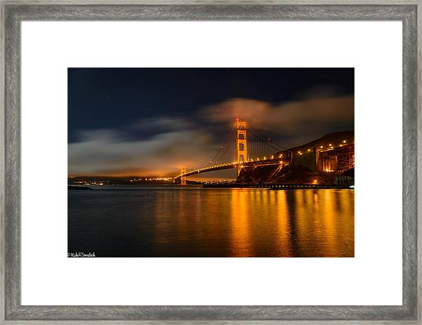 Golden Gate Night Framed Print