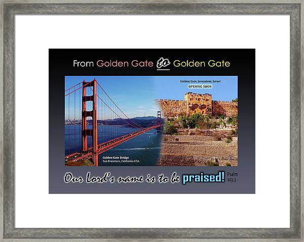 Golden Gate To Golden Gate Framed Print