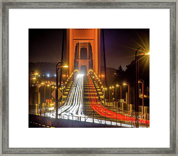 Golden Gate Traffic Framed Print