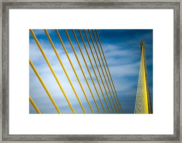 Golden Glow Of Tampa Framed Print