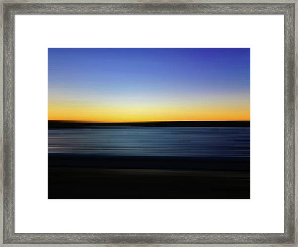Framed Print featuring the digital art Golden Horizon by Gina Harrison