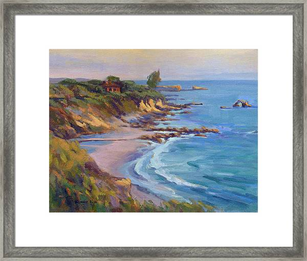 Golden Hour At Corona Del Mar Framed Print