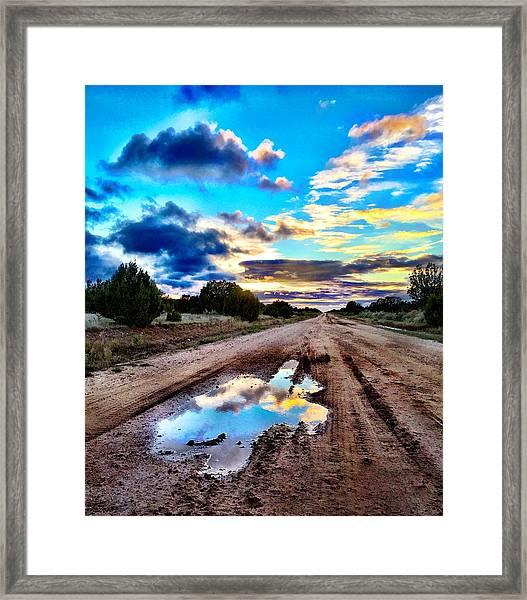 Golden Hour Pool Framed Print