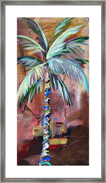 Golden Jasper Palm Framed Print