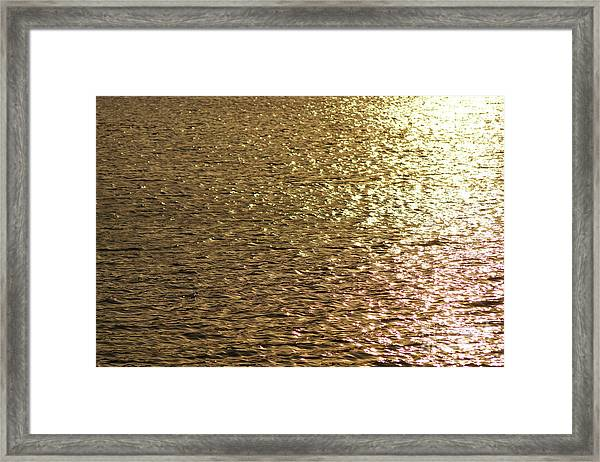 Golden Lake Framed Print