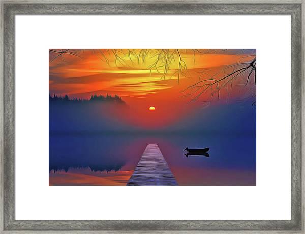 Golden Lake Framed Print