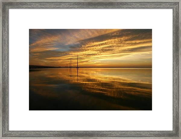 Golden Light Framed Print
