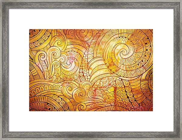 Golden Lines Framed Print