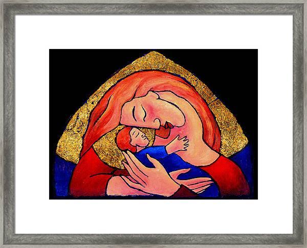 Golden Mama Framed Print
