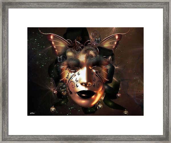 Golden Masquerade Framed Print