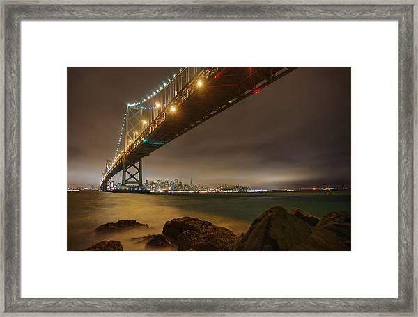 Golden Night Over The City Framed Print