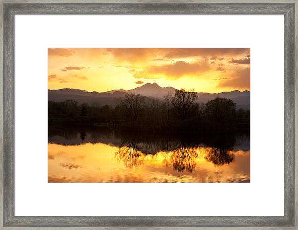 Golden Ponds Longmont Colorado Framed Print