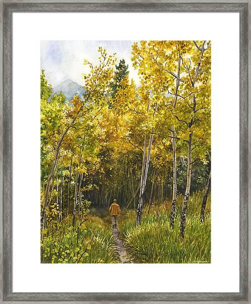 Golden Solitude Framed Print