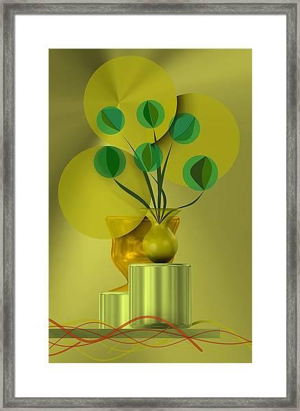 Golden Still Life Framed Print