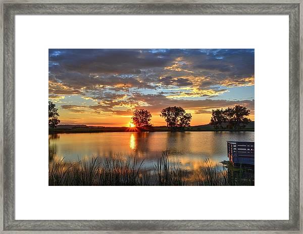 Golden Sunrise Framed Print